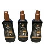 3 Australian Gold SPF 30 Spray Gel Instant Bronzer 8 oz Each 10/2023 - $31.49