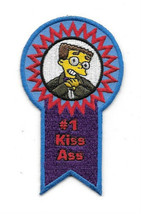The Simpsons Smithers Face #1 Kiss Ass Blue Ribbon Embroidered Patch, NE... - $7.84