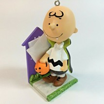 Halloween Peanuts Ornament Charlie Brown Vampire A Little Bit of Fright - $19.99