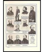 Vermont Texas Generals Identified Union Army Civil War Book Print - $18.99