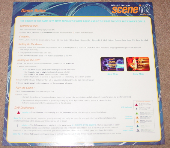 SCENE IT DVD GAME DELUXE EDITION 2004 MATTEL SCREENLIFE LIGHTLY PLAYED CONDITI image 3