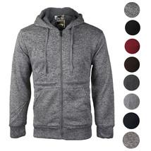 Men's Premium Athletic Soft Sherpa Lined Fleece Zip Up Hoodie Sweater Jacket