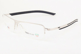 Tag Heuer 3823 004 Line Satin Silver Black Eyeglasses 3823-004 57mm - $293.02