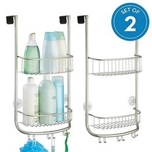 InterDesign Forma Metal Bathroom Over the Door Shower Caddy with Storage... - $36.54