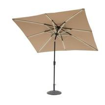 9 ft. x 7 ft. Rectangle Next Gen Solar Lighted Market Patio Umbrella in ... - $263.16