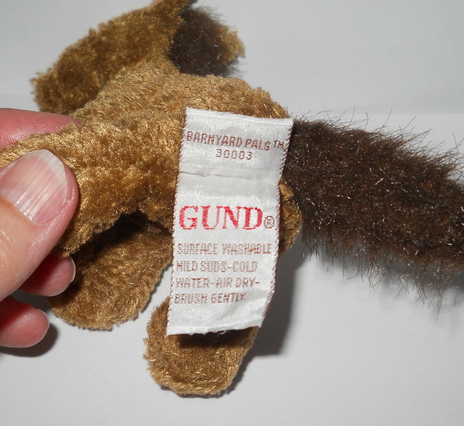 """Gund Barnyard Pals Horse Pony 5"""" Mini Brown Plush Stuffed 30003 Rare Animal"""