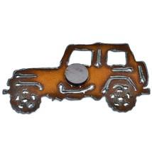 "Rustic Rusted Patina Iron Metal Cutout Jeep Wrangler 4.5"" Refrigerator Magnet image 2"