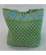 Vera Bradley Apple Green Large Handbag / Tote - $25.51