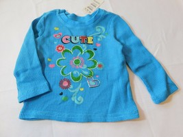 The Children's Place Baby Girl's Long Sleeve Waffle Shirt 6-9 Months Cute NWT - $24.74