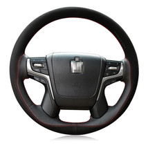 For Toyota Crown 2012-201 DIY Hand-stitched Car Steering Wheel Cover Top Leather - $38.77