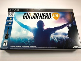 NEW Sony PS3 Guitar Hero Live Wireless GUITAR & GAME Single Bundle Set Kit - $59.99