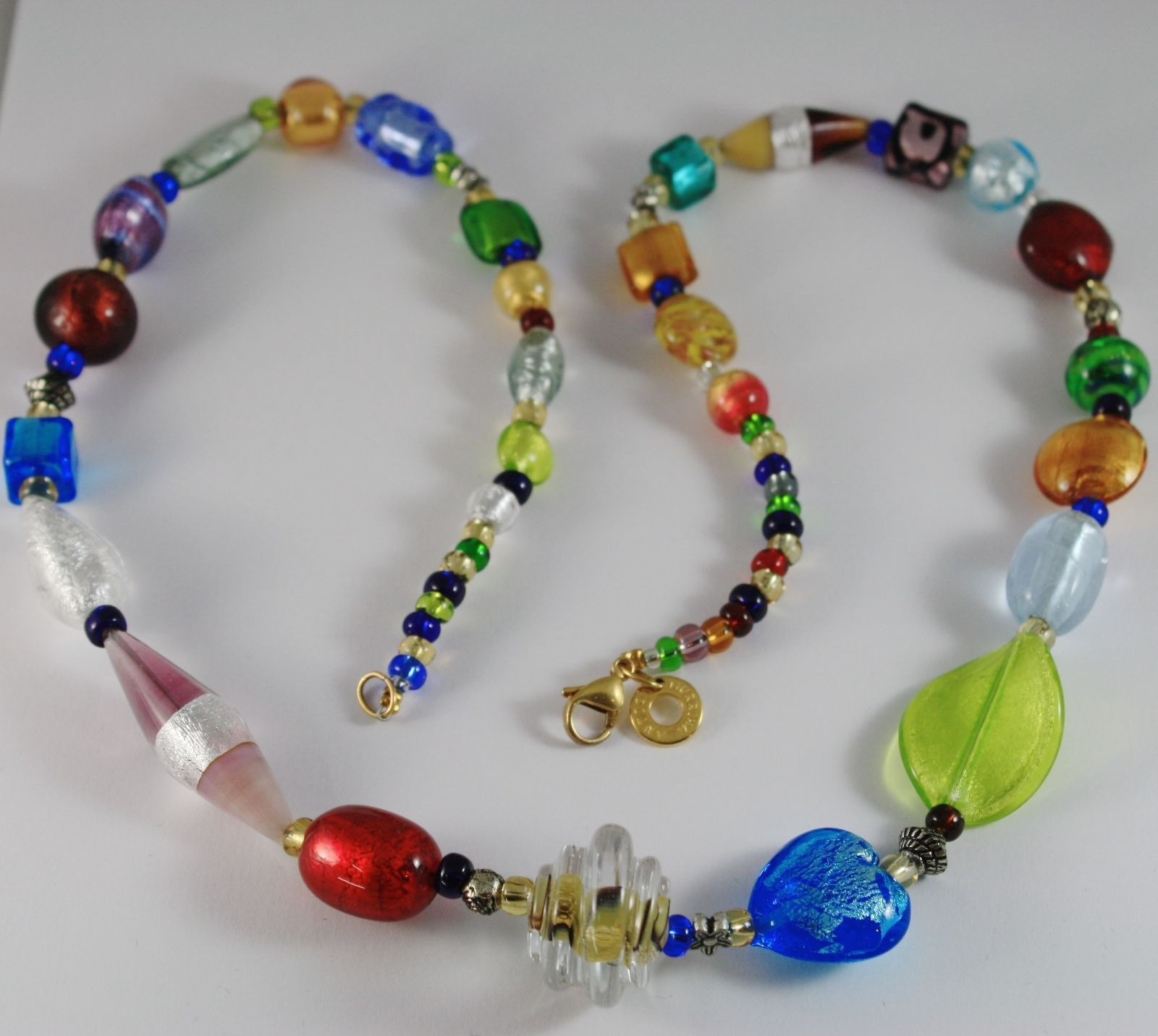 COLLANA ANTICA MURRINA VENEZIA CON VETRO DI MURANO MULTICOLORE CO268A19 72 CM