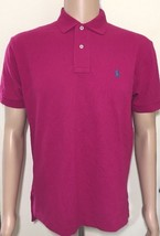Ralph Lauren Mens Dark Pink Polo Shirt Classic Fit Small - $52.84