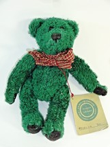 "Boyds Plush "" Toe "" Green Bear with Tag J.B. Bean 1985-1995 - Retired #5... - $12.24"