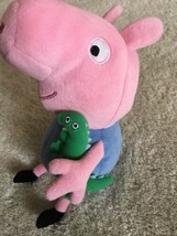 Ty Peppa Pig Pink Blue Green Dinosaur GEORGE Beanie Stuffed Animal Toy  - $12.13
