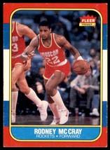 1986-87 Fleer Basketball Premier Rodney McCray Houston Rockets #71 - $0.50
