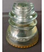 "Clear Glass Hemingray # 42 USA Insulator 4"" tall - $8.00"