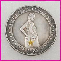 Sexy girl Hobo Nickel Coin 1881 commemorative free shipping #125 - $19.99