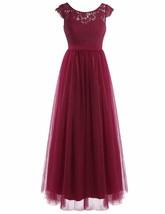 YiZYiF Women Crochet Lace Wedding Bridesmaid Formal Gown Prom Party Maxi... - $60.38+