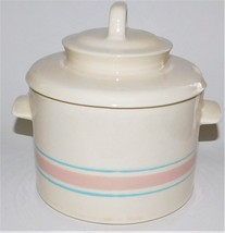 Nelson McCoy Pottery Pink and Blue Soup Tureen with Lid 0164 Vintage USA - $54.45