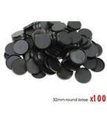 Round Plastic Bases Table Games 100 Pieces 32mm High-quality for Wargame... - $16.35