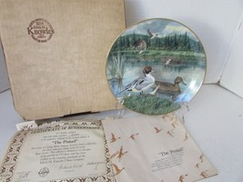 KNOWLES COLLECTOR PLATE THE PINTAIL JERNER'S DUCKS 1ST 1986 #5524 COA BO... - $4.90