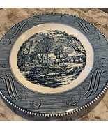 """Royal China Currier & Ives Vintage 10"""" Dinner Plate """"The Grist Mill"""" set... - $38.80"""