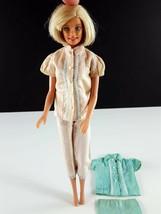 Barbie PAK Pink Blue Ribbon Pajamas & Blue White Ribbon Pajama Original ... - $14.84