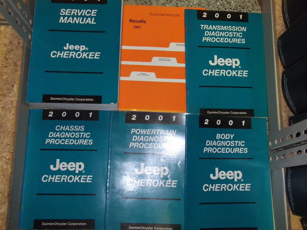 2001 JEEP CHEROKEE Service Repair Shop Manual Set FACTORY BOOKS OEM JEEP MOPAR x