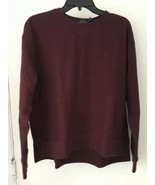 Polo Ralph Lauren Womens Fleece Pullover Sweatshirt SOFT Flannel Plum XL... - $42.77