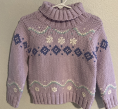 Old Navy, Baby Girl Clothes, SZ 2T, Lavender Cable Knit Sweater - $15.00