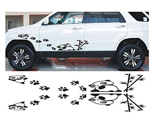 "Car Decal Stickers Car Door Decal Engine Hood Stickers BLACK (About 39.4""x5.9"")"
