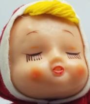 Vintage 1950s Rubber Face Felt Body Christmass Doll Figurine Adorable Cu... - $27.95