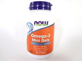 NOW Omega-3 Mini Gels Cardiovascular Support 180 Softgels [VS-N] - $13.10