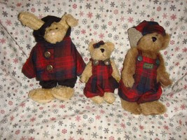 Boyds Bears 1997 Fall Emily, Edmond And Becky Plush  - $24.49