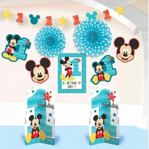 Mickey Mouse Fun to Be One 10 Pc Room Decorating Kit 1st Birthday Party - $15.24