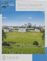Pomegranate Greenwich Park Proverbs 1000 pc Jigsaw Puzzle London England - $18.80