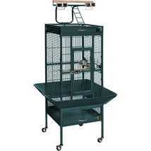 Prevue Hendryx Small Wrought Iron Select Bird Cage - Jade Green 961-PP-3151GRN - $240.66