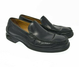 Cole Haan Nike Air Men's Sz 8.5M lot Black Leather Slip On Comfort Dress Loafers - $39.99