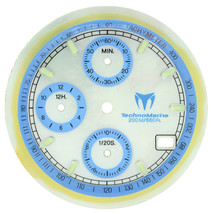 Technomarine Cruise 30mm Mother Of Pearl Blue Sub-Dials For 36mm Men's w... - $89.00