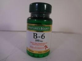 Nature's Bounty B-6 100 mg Energy Health 100 Tablets [VS-N] - $10.40
