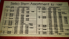 VINTAGE 22 VIALS OF SEIKO STEMS ASSORTMENT IN BOX FOR YOUR RESTORATIONS - $154.02