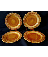 """Set of 4 PIER 1 Hand Painted Earthenware 8.5"""" Elegant and Glossy Nice Pl... - $29.69"""