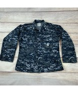 US Navy Working Blouse Blue Digital Camo S Small Short Top Military Uniform - $19.00