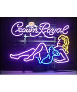 "New Crown Royal Girl Whiskey Pub Bar Neon Light Sign 17""x14"" - $107.00"