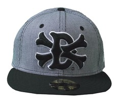 Dissizit Dx11 Bones Micro Gingham Black & White New Era 59Fifty Fitted Hat NWT