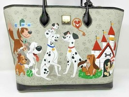 Disney Dooney & and Bourke Reigning Dogs Tote Purse Bag Nana Max Lady Co... - $282.14