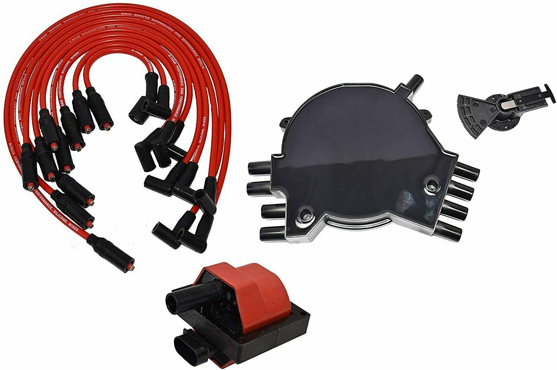 95-97 GM LT1 LT4 Optispark Distributor Cap, Rotor, 8mm Spark Plug Kit
