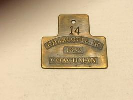 Vintage Watch Fob - Charlotte, NC Coachman - $30.00
