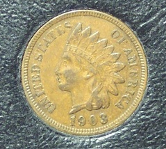 1903 Indian Head Penny EF45 2.5 Diamonds #0956 - $8.79